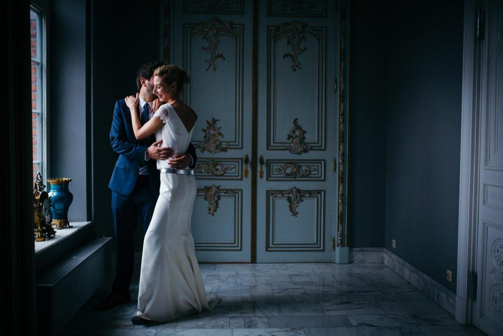 Photographie de La Corde au Coeur, photographe de mariage en Belgique. Portrait des mariés