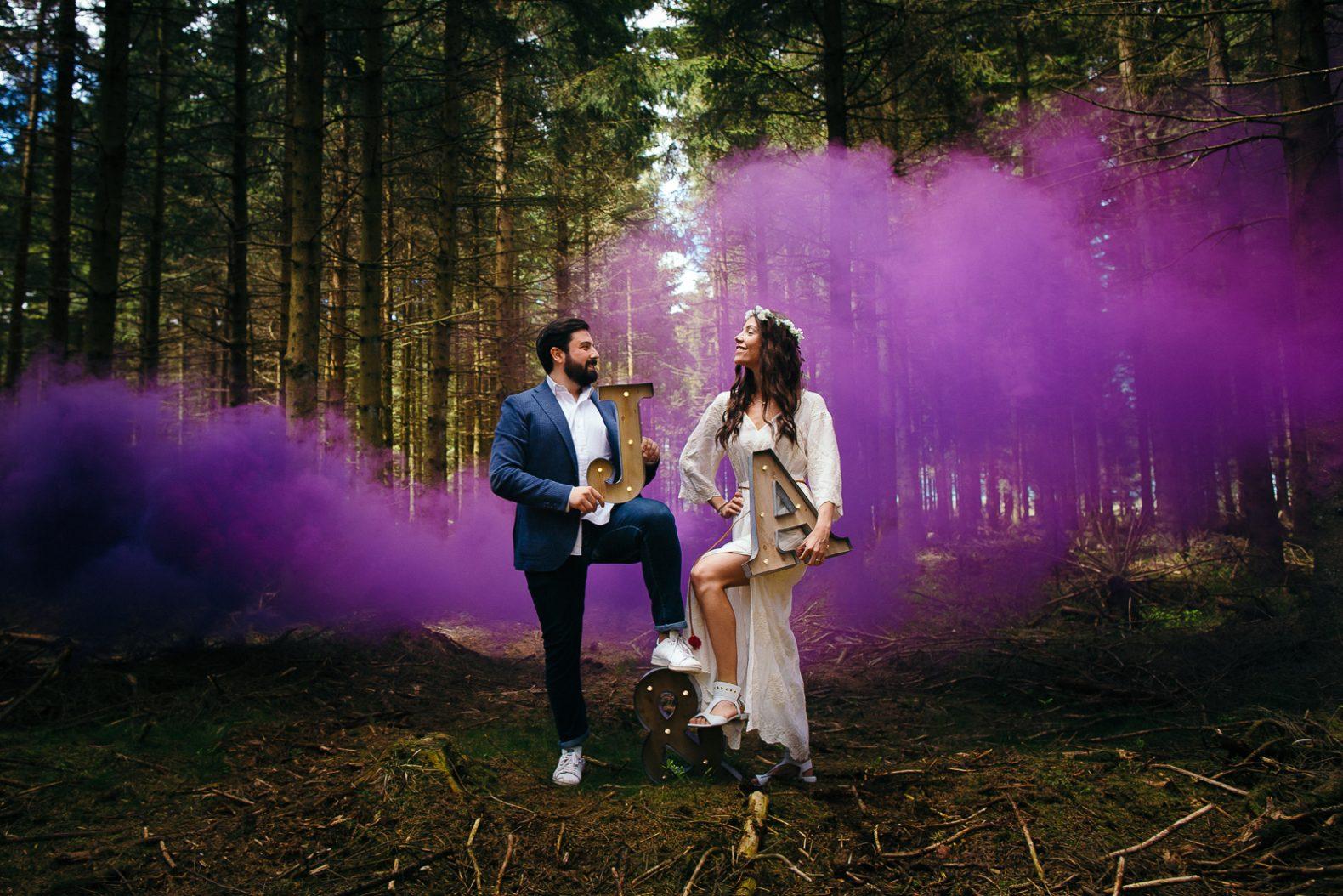 Engagement session couple Amandine et Jon avec notre photographe dans les Fagnes